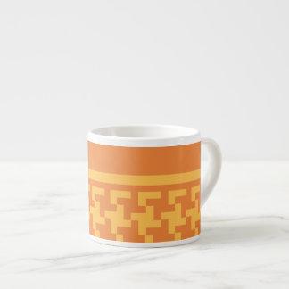 エスプレッソのコーヒー・マグ、Dogstoothのオレンジ点検 エスプレッソカップ