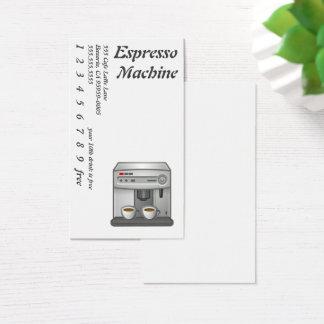 エスプレッソ・マシンのコーヒーアイコン 名刺