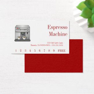 エスプレッソ・マシンの赤の文字 名刺