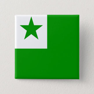 エスペラントの高品質な旗 5.1CM 正方形バッジ