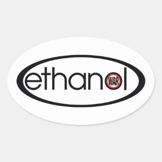 エタノール-戦争無し 楕円形シール