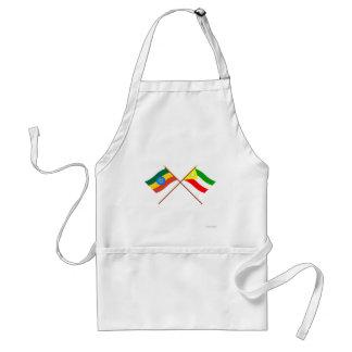 エチオピアおよびソマリ族の交差させた旗 スタンダードエプロン