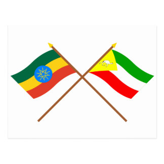 エチオピアおよびソマリ族の交差させた旗 ポストカード