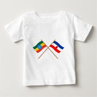 エチオピアおよび南交差させた旗 ベビーTシャツ
