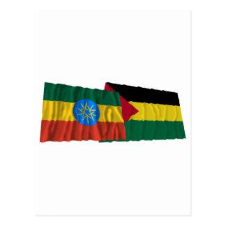 エチオピアおよびBenishangul-Gumazの振る旗 ポストカード