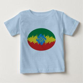 エチオピアのすごい旗のTシャツ ベビーTシャツ