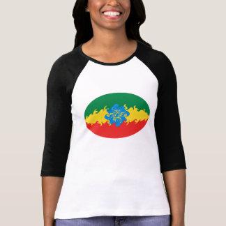 エチオピアのすごい旗のTシャツ Tシャツ