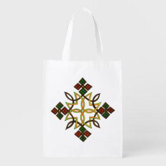 エチオピアの十字のエコバッグ、フード付きスウェットシャツ、Tシャツ エコバッグ