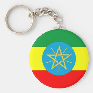 エチオピアの国旗の長い記号 キーホルダー
