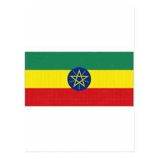 エチオピアの国旗 ポストカード