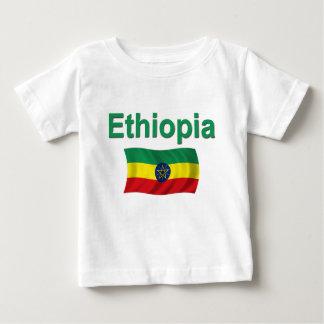 エチオピアの国旗(w/inscription) ベビーTシャツ
