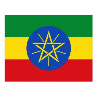 エチオピアの国民の世界の旗 ポストカード