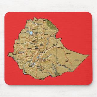 エチオピアの地図のマウスパッド マウスパッド