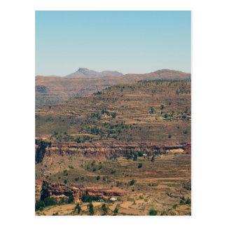 エチオピアの山地 ポストカード
