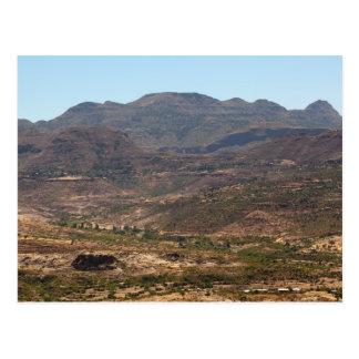 エチオピアの山 ポストカード