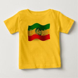 エチオピアの振る旗 ベビーTシャツ
