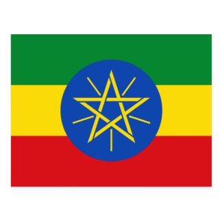 エチオピアの旗と ポストカード