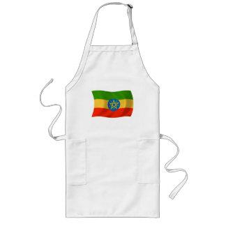 エチオピアの旗のエプロン ロングエプロン