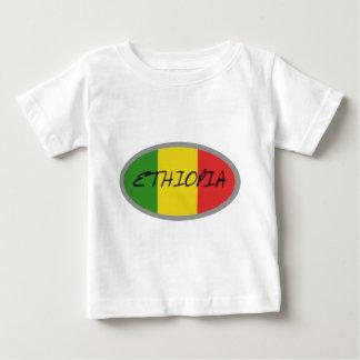 エチオピアの旗のデザイン! ベビーTシャツ