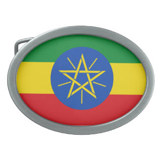 エチオピアの旗のベルトの留め金 卵形バックル