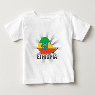 エチオピアの旗の地図2.0 ベビーTシャツ
