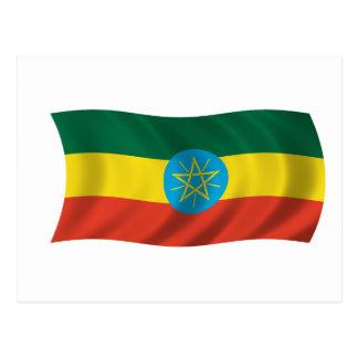 エチオピアの旗 ポストカード