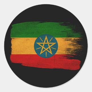 エチオピアの旗 ラウンドシール