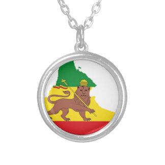 エチオピアの旗prライン👍😂😂👌 シルバープレートネックレス