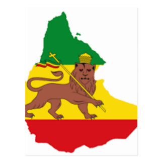 エチオピアの旗prライン👍😂😂👌 ポストカード