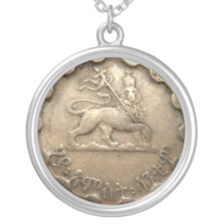 エチオピアの硬貨のネックレス シルバープレートネックレス