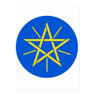 エチオピアの紋章付き外衣と ポストカード