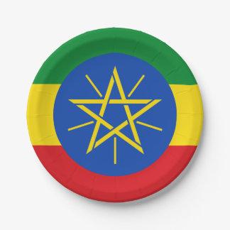 エチオピアの紙皿の旗 ペーパープレート