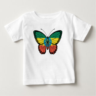 エチオピアの蝶旗 ベビーTシャツ