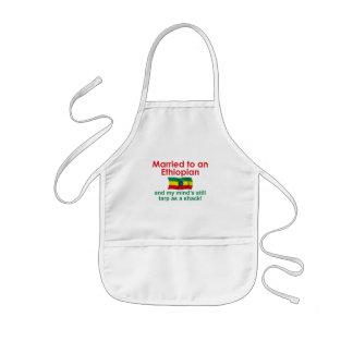 エチオピアへのMarriet 子供用エプロン