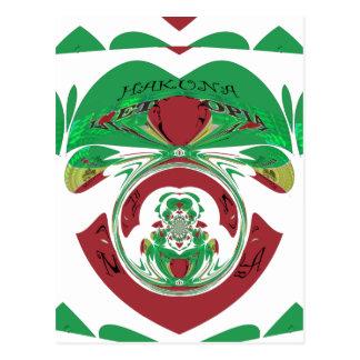 エチオピア美しい美しいHakuna Matata I愛Hea ポストカード