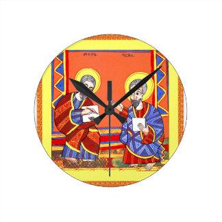 エチオピア聖書聖者ルーク聖者ジョン ラウンド壁時計