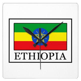 エチオピア スクエア壁時計