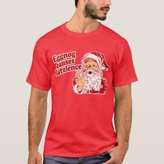 エッグノッグにより鼓腸を引き起こします Tシャツ