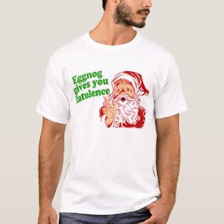エッグノッグはサンタを屁をさせます Tシャツ