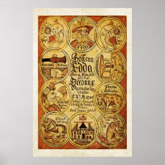 エッダのNorseのScandinvianの神話 ポスター