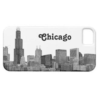エッチングされるシカゴのスカイライン iPhone SE/5/5s ケース
