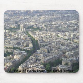 エッフェル塔からのパリの眺め マウスパッド
