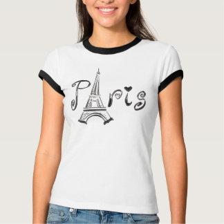 エッフェル塔が付いているパリのTシャツ Tシャツ
