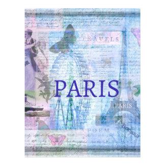 エッフェル塔が付いているヴィンテージのパリのテーマのアートワーク レターヘッド