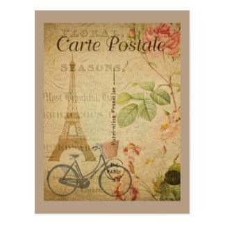エッフェル塔とのパリのヴィンテージ ポストカード