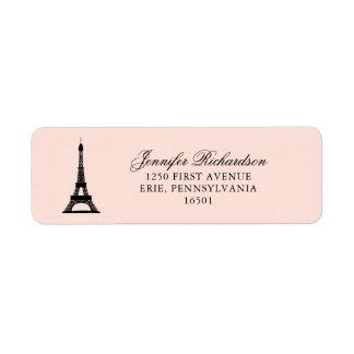 エッフェル塔とのパリの優雅の赤面のピンク ラベル