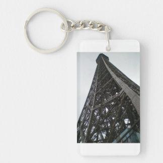 エッフェル塔のキーホルダー 長方形(片面)アクリル製キーホルダー