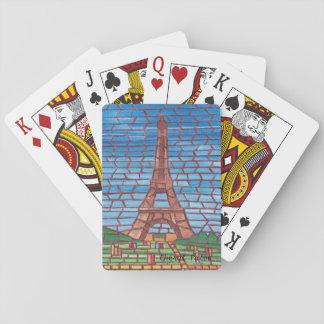エッフェル塔のトランプのモザイク絵画 トランプ