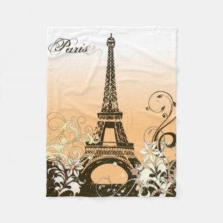エッフェル塔のパリの小さいフリースブランケット フリースブランケット