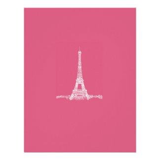 エッフェル塔のパリの抽象的なピンク レターヘッド